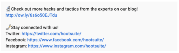 Hootsuite Labs call to action