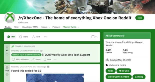 /r/XboxOne subreddit