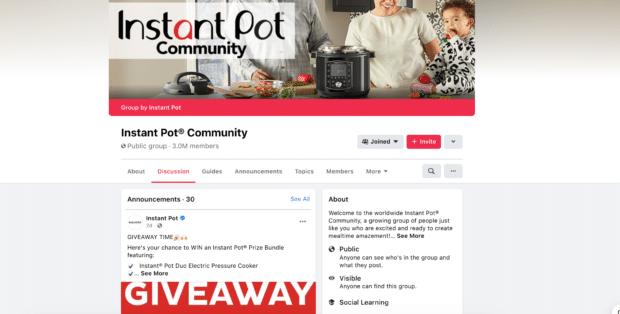 Instant Pot Facebook Group