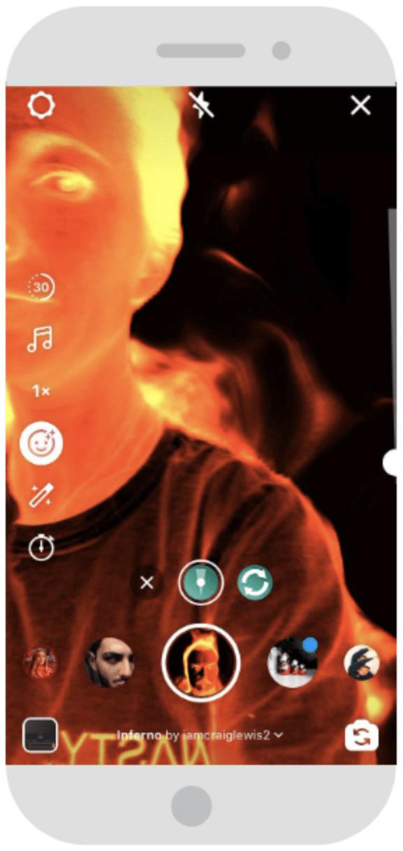 Instagram Reels AR filter