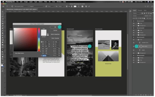 Adobe Photoshop edit font