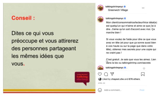 légendes sur Instagram example par Laura Belgray