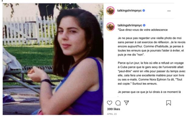 example de légendes Instagram non glauques