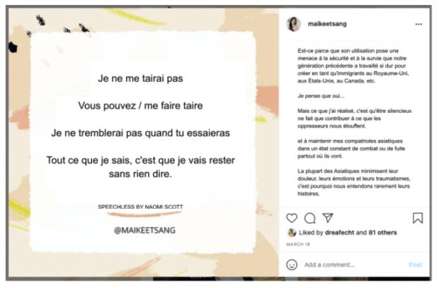 Légendes sur instagram example par Mai-Kee Tsang