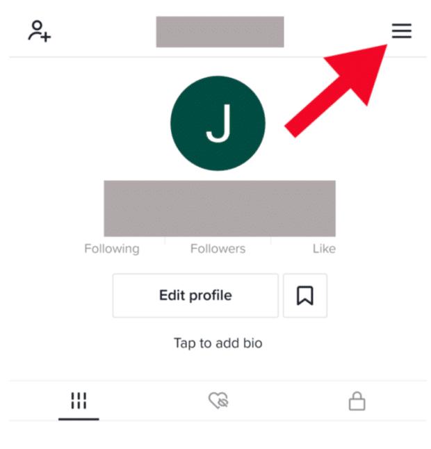 TikTok menu icon