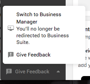 switch to business manager