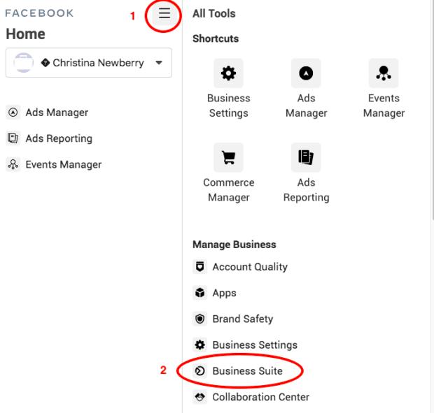menu icon business suite