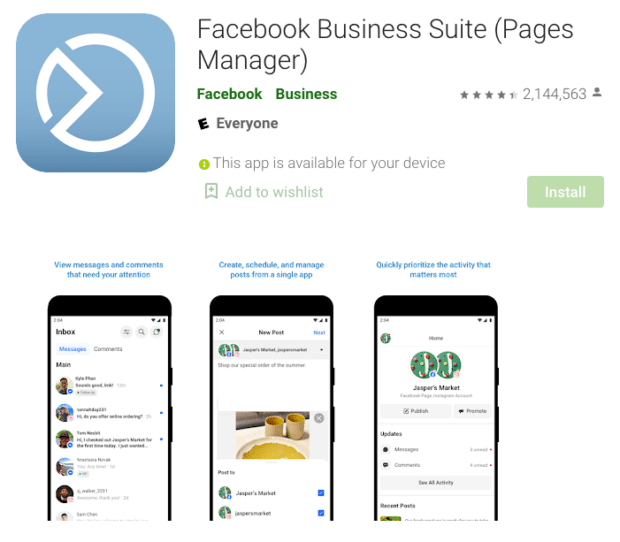 Facebook Business Suite Pages Manager