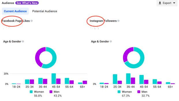 business suite Facebook and Instagram comparison