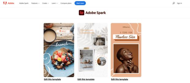 Adobe Spark free library