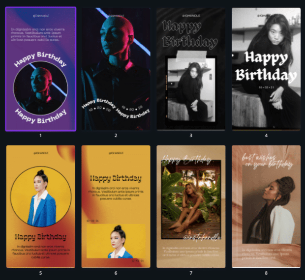 Happy birthday Instagram Story templates