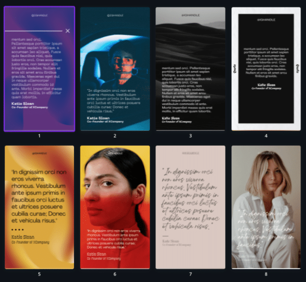 Quotes Instagram Story templates