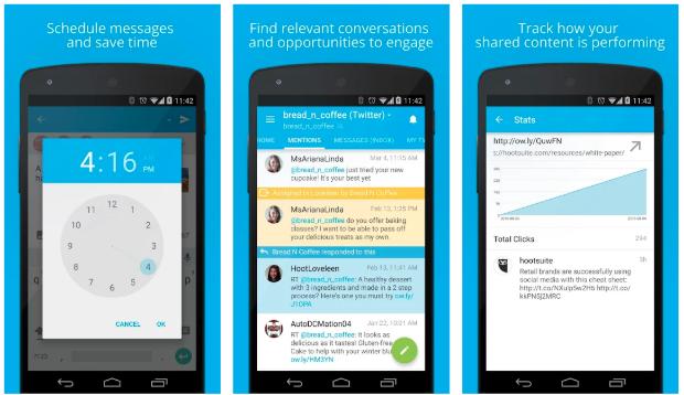 Hootsuite app for social media