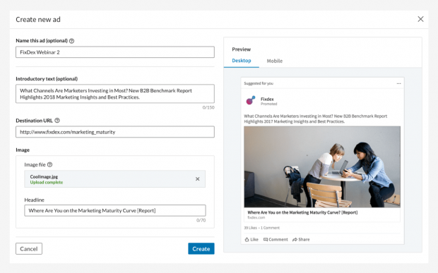 LinkedIn Ad im Kampagnen-Manager erstellen