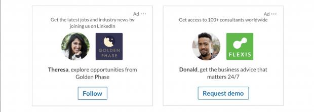 LinkedIn Dynamic Ads personalisieren die Ansprache automatisch