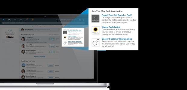 Text Ads auf LinkedIn können nach Kosten pro Klick oder Kosten pro Impression gebucht werden. Bild: LinkedIn
