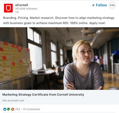 Anzeigen, die Menschen zeigen, sind deutlich erfolgreicher auf LinkedIn.