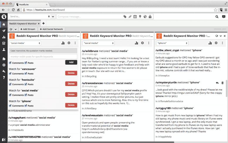 Die App Reddit Keyword Monitor verfolgt wesentliche Konversationen auf Reddit und ist deshalb eine wichtige Wissensquelle.