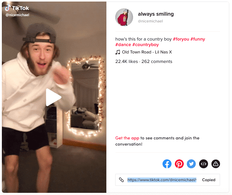 TikTok video by @nicemichael to Old Town Road