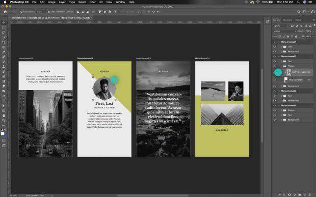 Editando las plantillas para Historias de Instagram