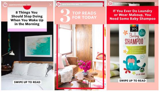 Plantillas de Historias de Instagram por Apartment Therapy