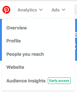 Analytics de Pinterest