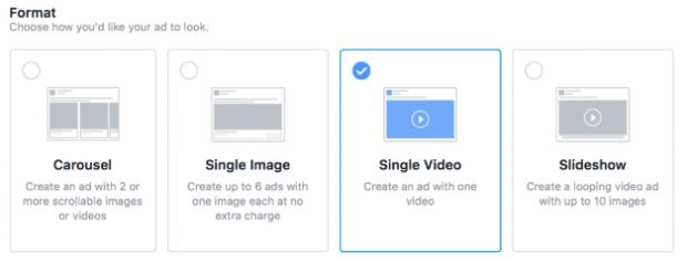 choosing Instagram ad format