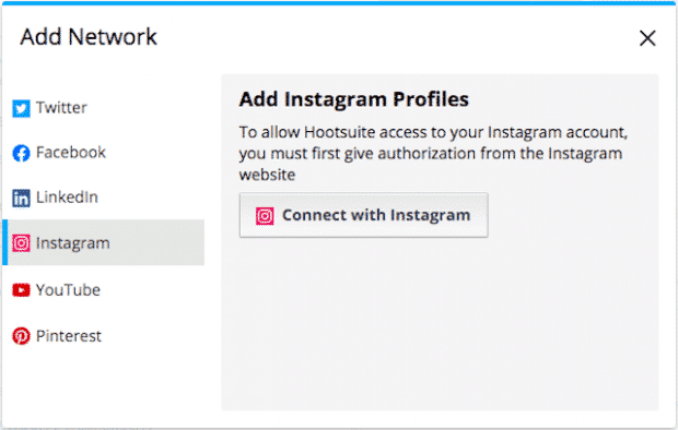 Hootsuite mit Instagram verknüpfen