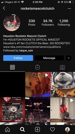 Instagram Bio mit Stichworten darin