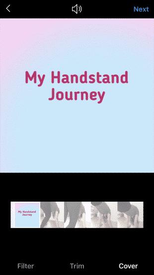 Photo de couverture d'une vidéo intitulée « My Handstand Journey »