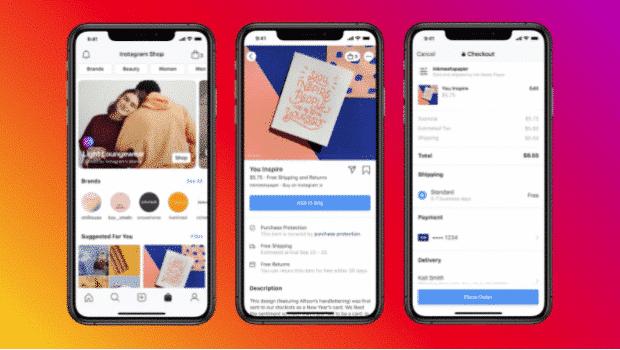 Instagram shopping in Explore tab