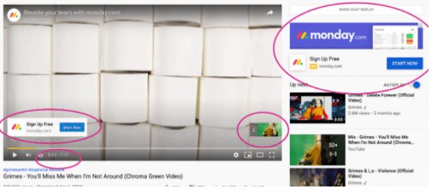 YouTube Ads von Monday.com