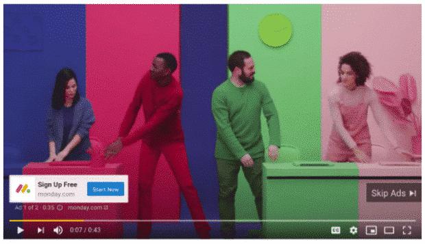 Youtube Ad von Monday.com