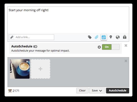 Hootsuite's AutoSchedule tool