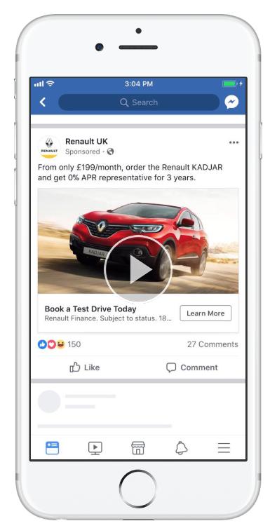 anúncio de renault do facebook
